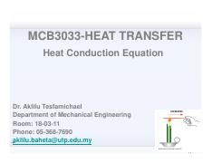 Lecture 3A-Heat conduction equation