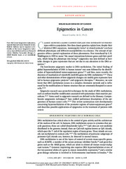 cancer epigenetics NEJM 2008