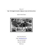 research paper-struggle for equality of indigenous in peru