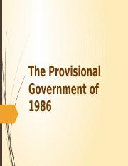 The Provisional Government of 1986.pptx