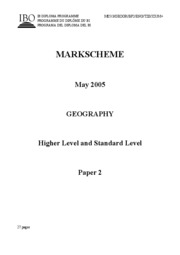 Geography HL+SL paper 2 T