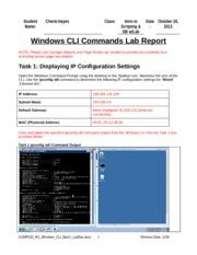 comp 230 lab 1