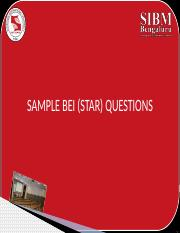 HRM Section 4A Sample BEI  (STAR) questions (1).pptx