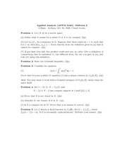 Midterm Exam 2 Fall 2006 on Applied Analysis 1