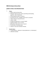 BMGT470 Chapter 8 Review Sheet