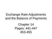 Chapter 14 Exchange Rate Adjustments and the Balance of Payments_lec_short(1)