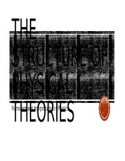 Lecture 2-The Structure of Physical Theories(1)