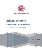 Introduction to financial Reporting 022016