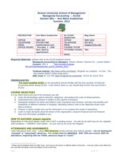 Managerial Accounting Summer 2013 Syllabus - AC222