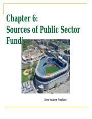 (note 6) - Public Sector Funding