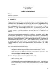 Lec 10 - Callable Bonds