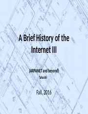 3. A Brief History of the Internet III