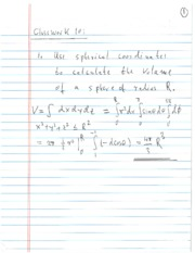 Homework Solution on Spherical and Cylindrical Coordinates