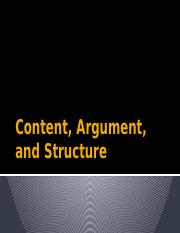 Content, Argument, and Structure.pptx