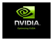 07 Optimizing CUDA (NVIDIA)