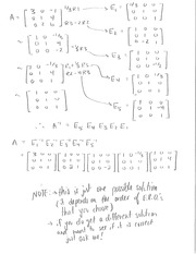Elementary Matrices Solutions P1