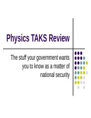 Physics_TAKS_Review.ppt