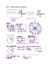 Pre-Calculus midterm study guide
