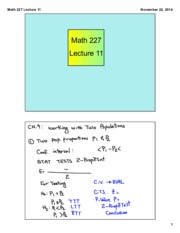 Math 227 Lecture 11