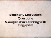 Seminar 9 Managerial accounting (Sem grp  8)