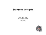Enzyme Catalysis 4511 F10