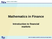 Seminar on financial mathematics