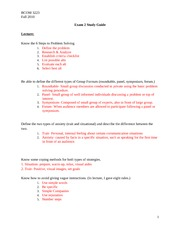 BCOM 3223-Exam 2 Study Guide