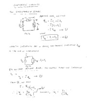 EE 3N03 Equivalent Circuits Notes