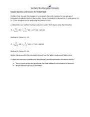 Revised ECO 500 Module 8 Sample Problems (revised)