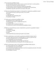 Chapter 2 The Economic Problem Homework Questions