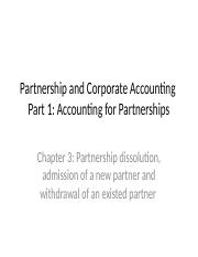 Chapter 3 - Partnership and Corporate Accounting (1)