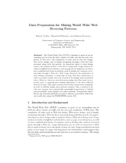Data Preparation for Mining World Wide Web Browsing Patterns