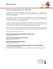 McMaster Material - Resume Tips 2012