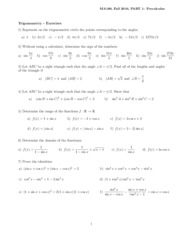 Exercises-Trig