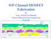BASIC STEP BY STEP FABRICATION MOSFET 010108