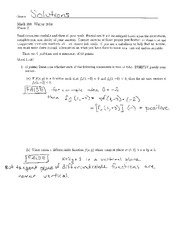 Math 206 Test 2 Solution