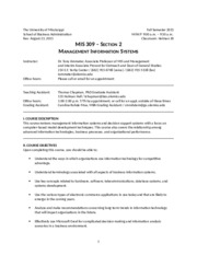 MIS 309 FALL 2015 Section 2 AMMETER Syllabus V 1.1.docx