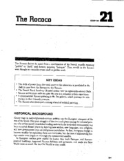 Chapter 21 The Rococo AP Study Guide