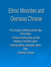 Ethnic Minorities and Overseas Chinese