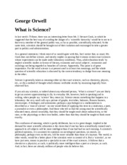 What is Science Orwell.docx