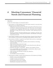 meeting_consumers_financial_needs_and_financial_planning_chapter_4_
