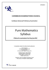 CAPE Pure Math Unit 1 (2012)e