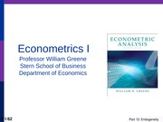 Econometrics - Instrumental Variables Estimation