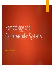 Hematology and Cardiovascular Systems.pptx