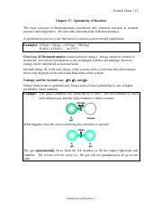 CH17  Chemical Thermodynamics