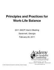Work-Life Balance Principles and Practices Workbook