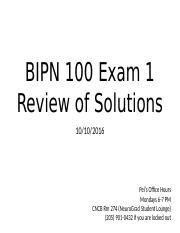 BIPN 100 Exam 1 Solutions Review.pptx