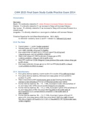 CHM 2025 Final Exam Study Guide Fall 2014