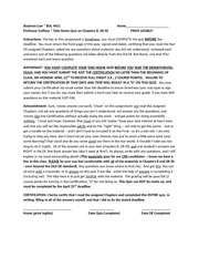 Business Law I Chapters 8, 28-30 Take Home Quiz