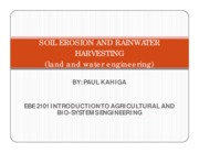 EBE 2101-Soil Erosion and Rainwater harvesting - Lecture notes by Paul Kahiga.pdf